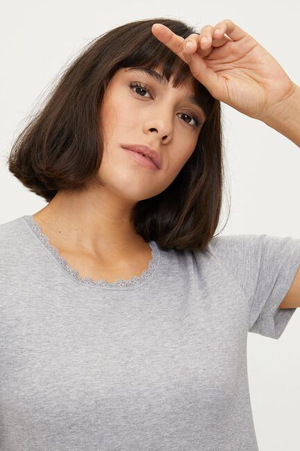 100% Cotton Lace Women's Flannel - Thumbnail