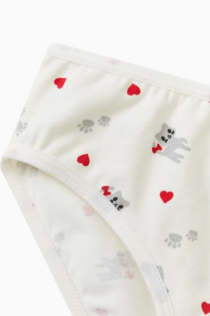 1020 Cat Pattern Kids Panties - Thumbnail