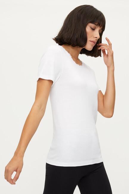1032 %100 Cotton Lacy Ladies Flannel - Thumbnail