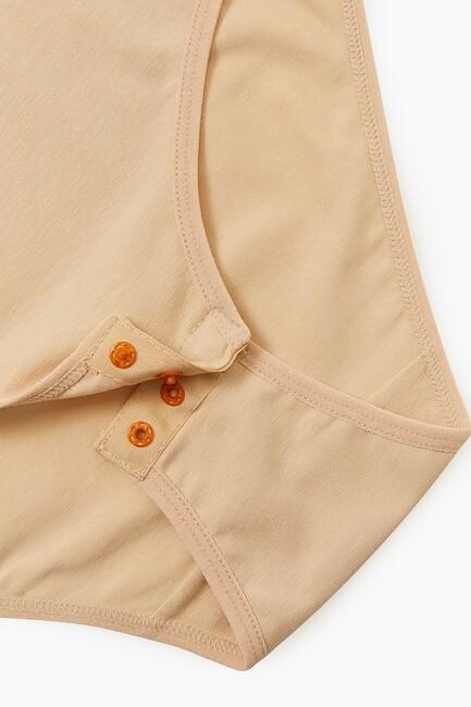 Bross Elastan Geniş Askılı Kadın Çıtçıtlı Body - Thumbnail