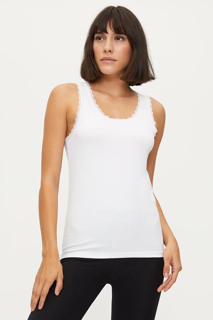 Bross - 1102 Lycra Wide Strappy Lacy Damen Unterhemd