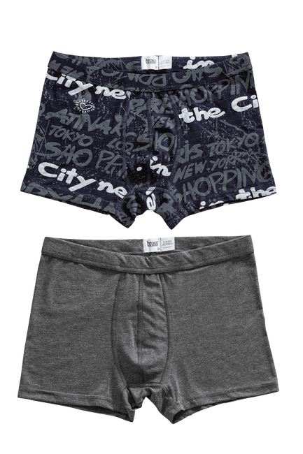 Bross - 1207 2-pack Basic-Printed Men s Boxer
