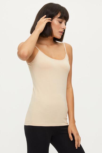 1246 Lycra Strappy Ladies Undershirt - Thumbnail