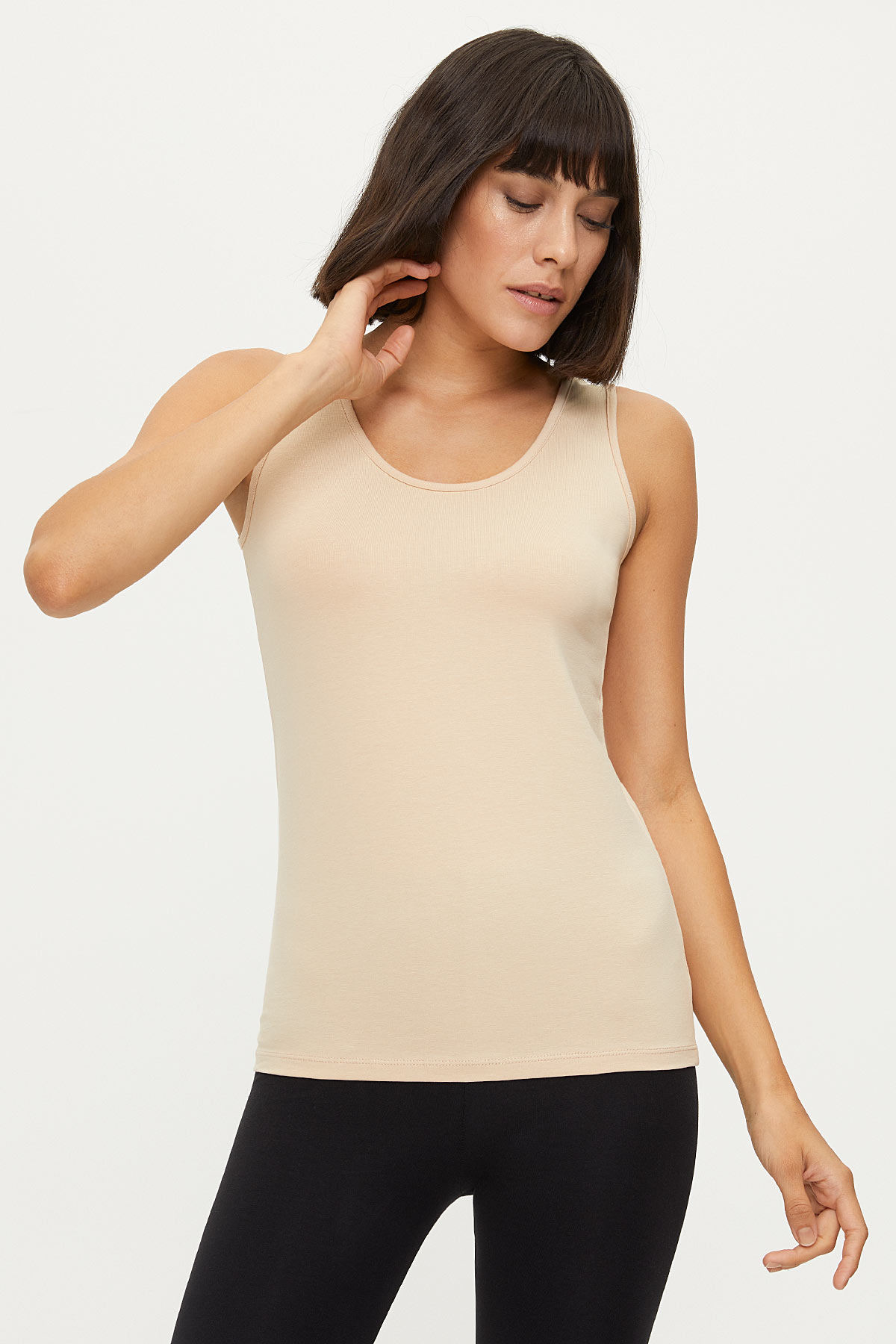 Bross - 1247 Lycra Wide Strappy Women's Undershirt