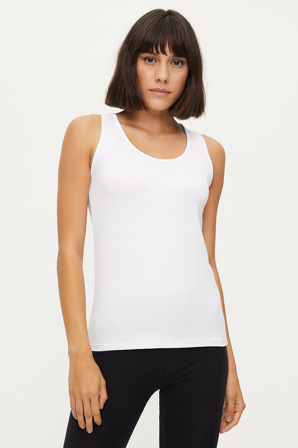 1247 Lycra Wide Strappy Ladies Undershirt