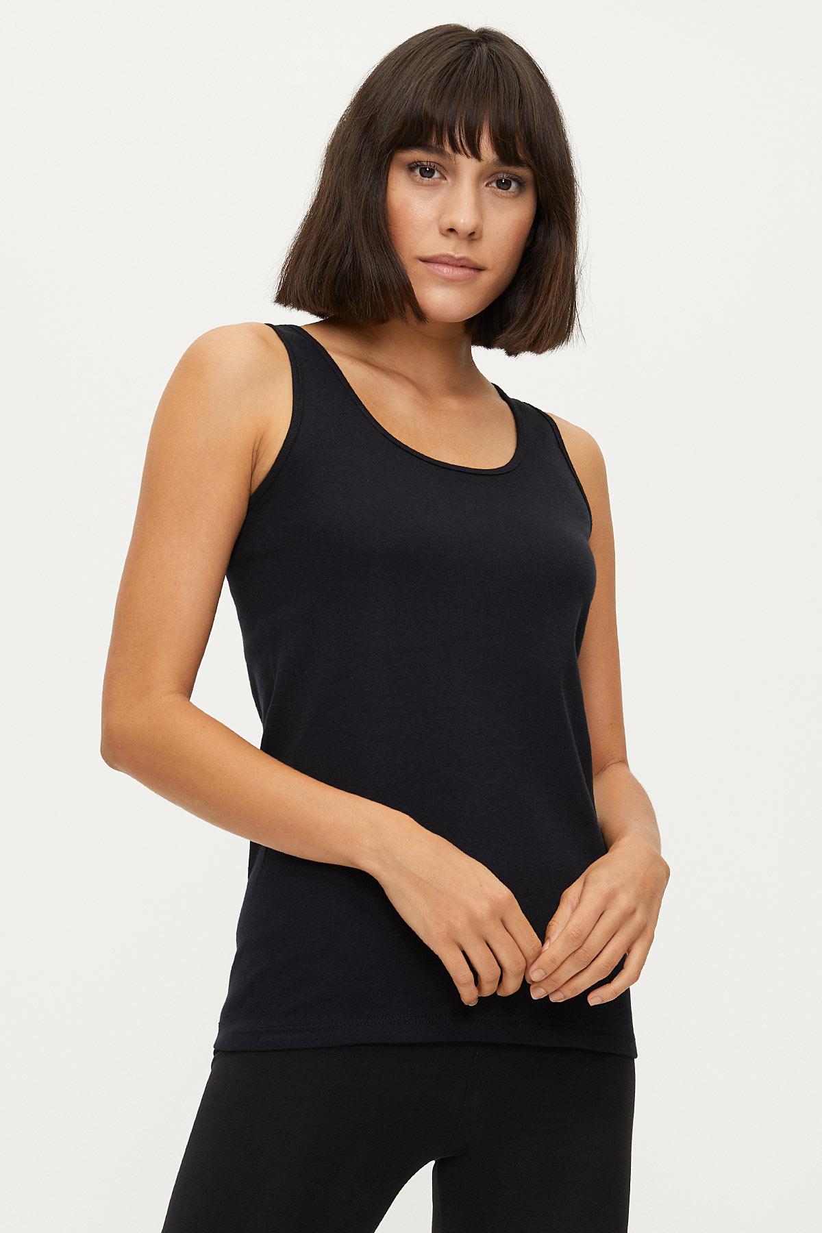 Bross - 1249 %100 Cotton Wide Strappy Ladies Undershirt