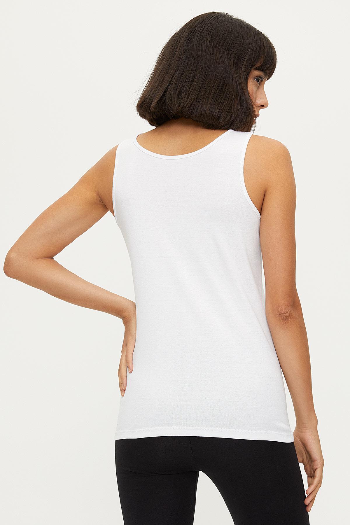 1249 100% Cotton Wide Strappy Women's Undershirt