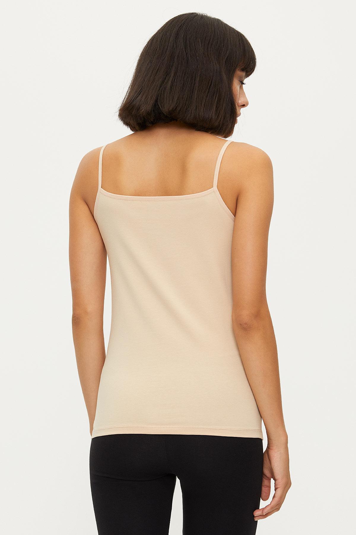 1275 Lycra Strappy Lacy Ladies Undershirt