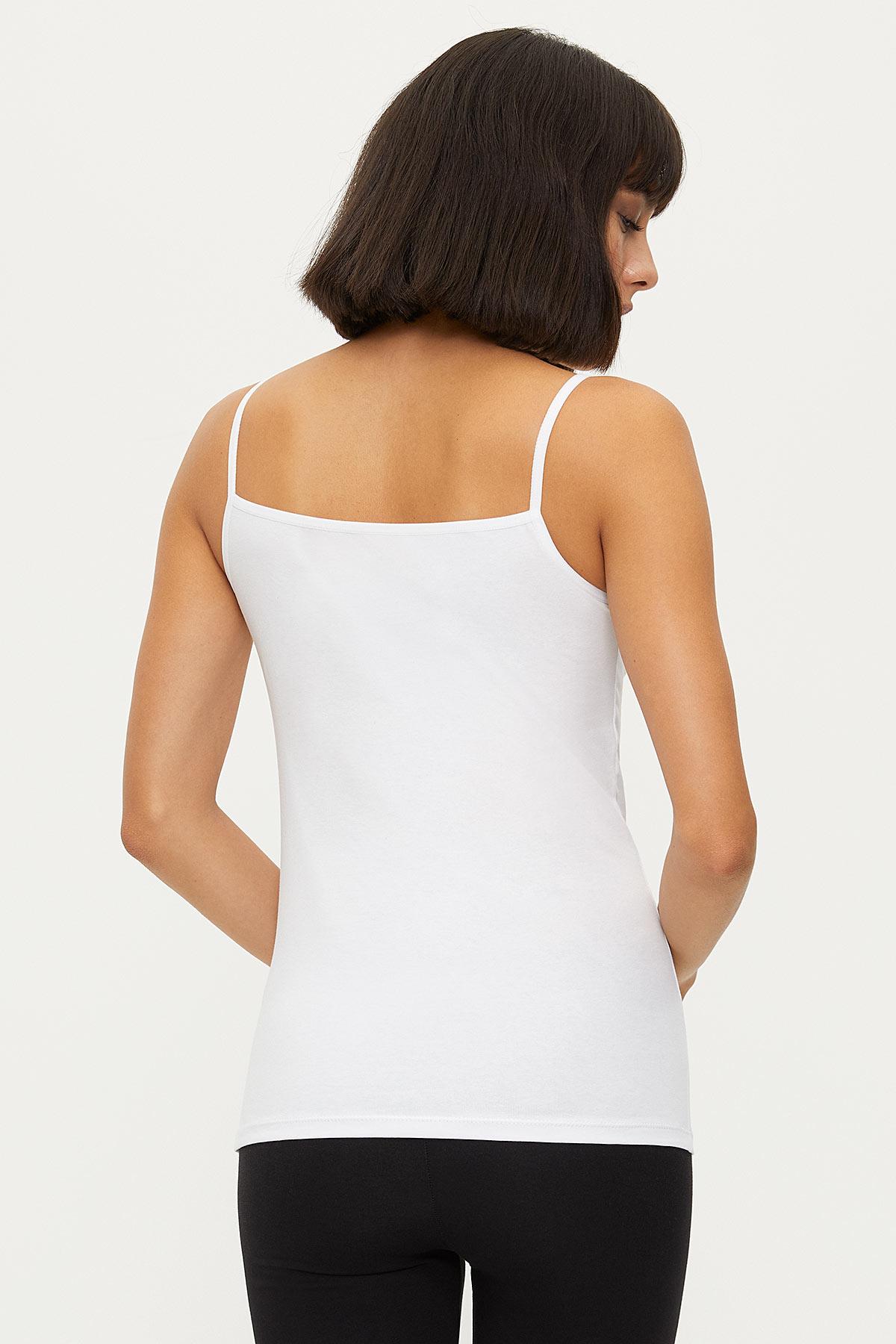 1275 Lycra Strappy Lace Women's Undershirt - Thumbnail