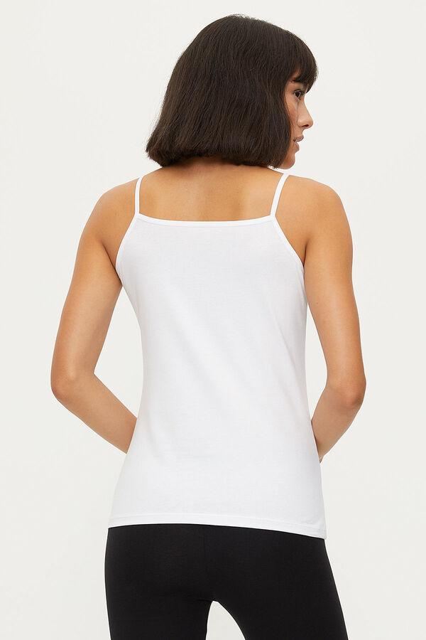 1283 Lycra Strappy Lacy Ladies Undershirt