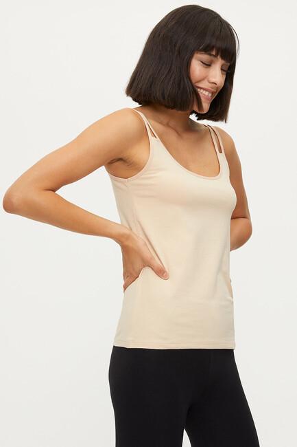1284 Lycra Strappy Ladies Undershirt - Thumbnail
