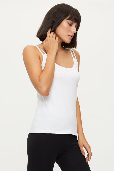 1284 Lycra Strappy Women's Undershirt - Thumbnail