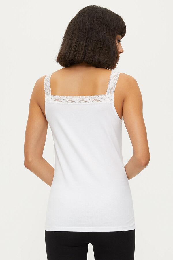 1286 Lycra Strappy Lace Women's Undershirt