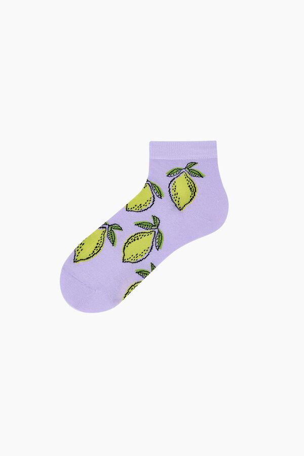 Bross 2'li Meyve Desenli Patik Kadın Çorabı