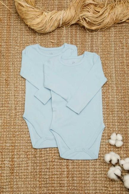 Bross - 2-pack Organic Cotton Baby Long Sleeve Body