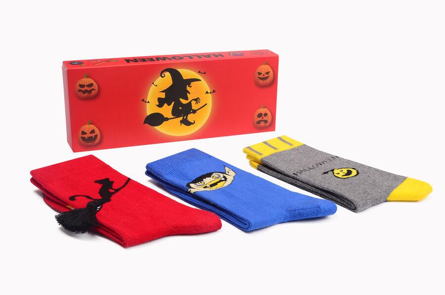 3-Box Halloween Patterned Women's Socks Seven