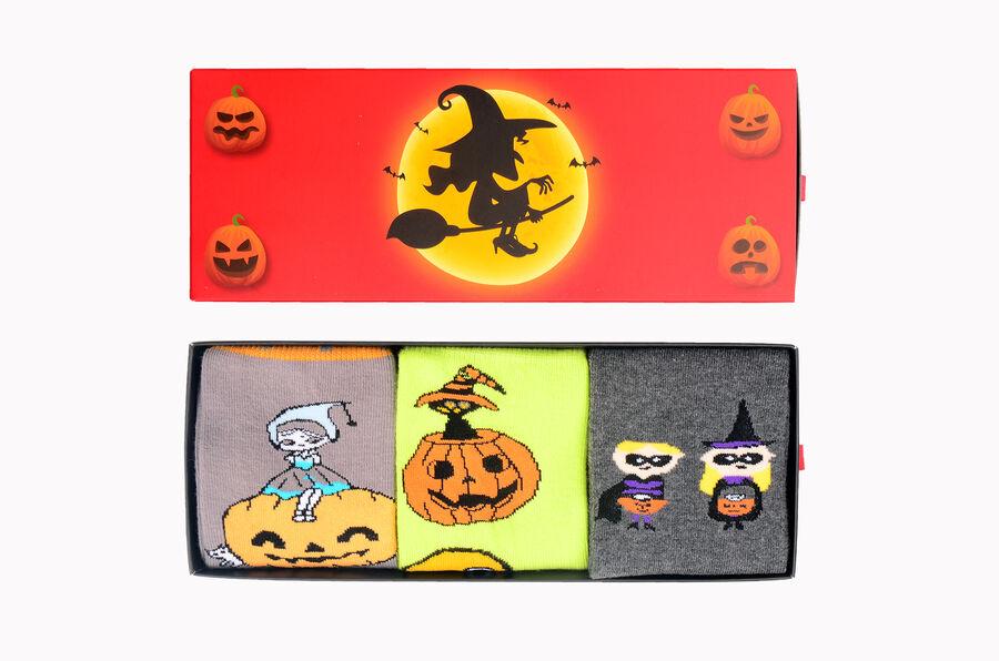 3-Pack Box Halloween Patterned Women's Socks Four