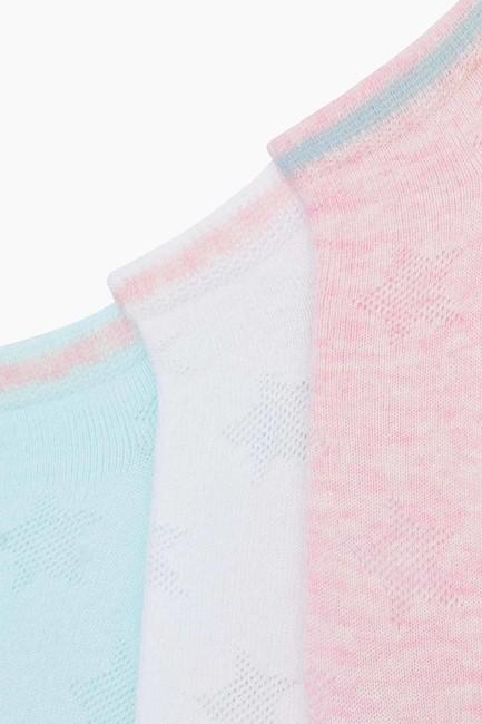 3-Pack Embossed Star Pattern Kids Sport Socks - Thumbnail