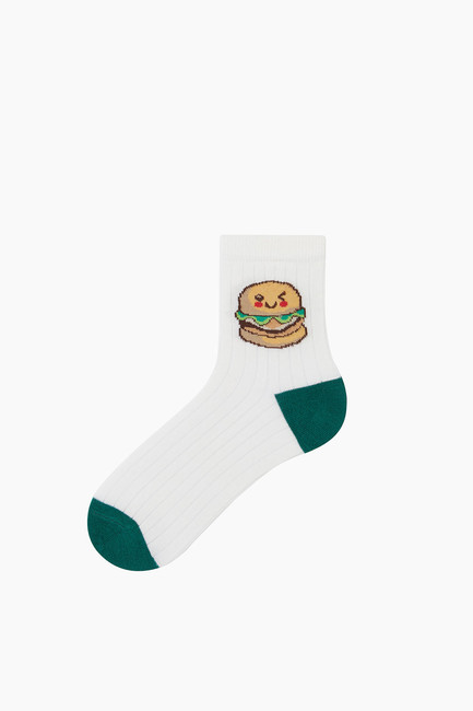 3-Pack Kids Fastfood Pattern Socks - Thumbnail