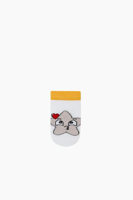 3-Pack Silvery Baby Shaftless Socks - Thumbnail
