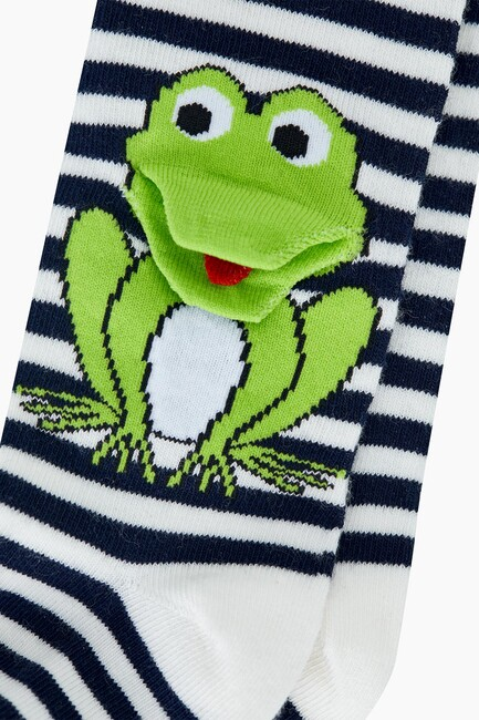 3D Frog Patterned Baby Tights - Thumbnail