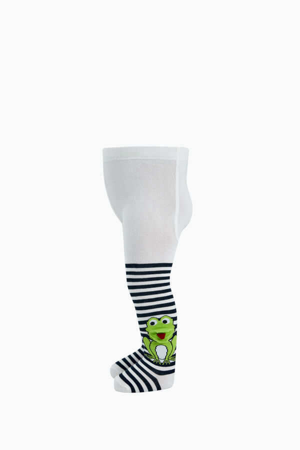 3D Frog Patterned Baby Tights