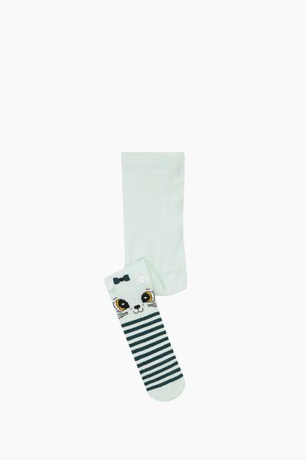 Bross - 3d Kedi Desenli Çemberli Külotlu Bebek Çorabı