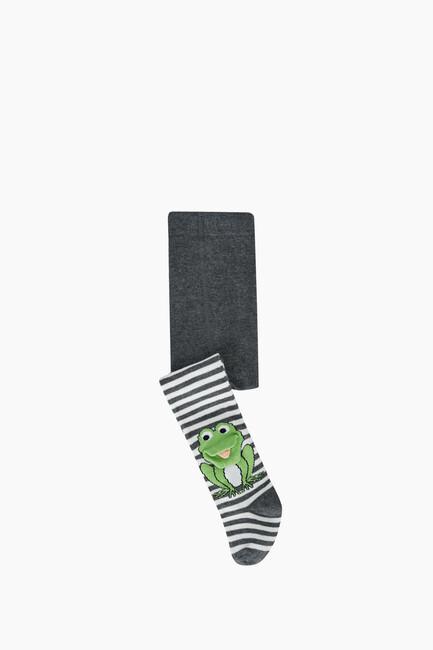 Bross - 3D Kurbağa Desenli Bebek Külotlu Çorabı