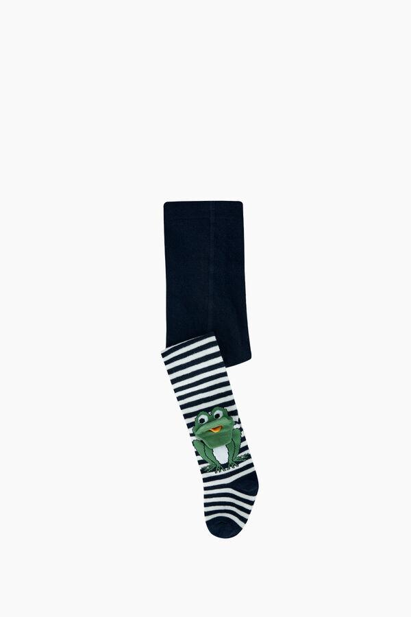 3D Kurbağa Desenli Bebek Külotlu Çorabı