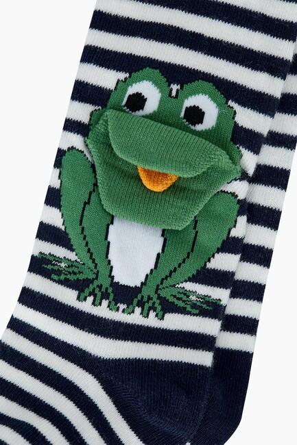 3D Kurbağa Desenli Bebek Külotlu Çorabı - Thumbnail