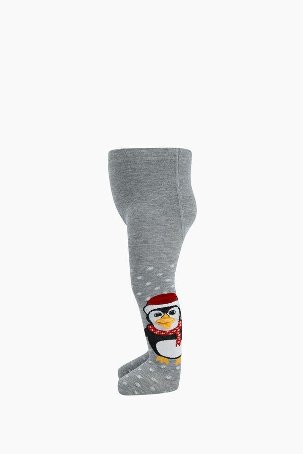 Bross 3D Peguen Desenli Bebek Külotlu Çorabı