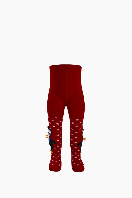Bross 3D Peguen Desenli Bebek Külotlu Çorabı - Thumbnail