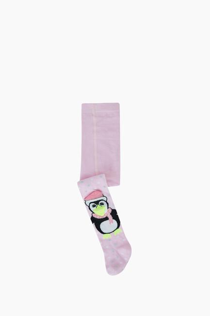 Bross - 3D Peguen Desenli Bebek Külotlu Çorabı