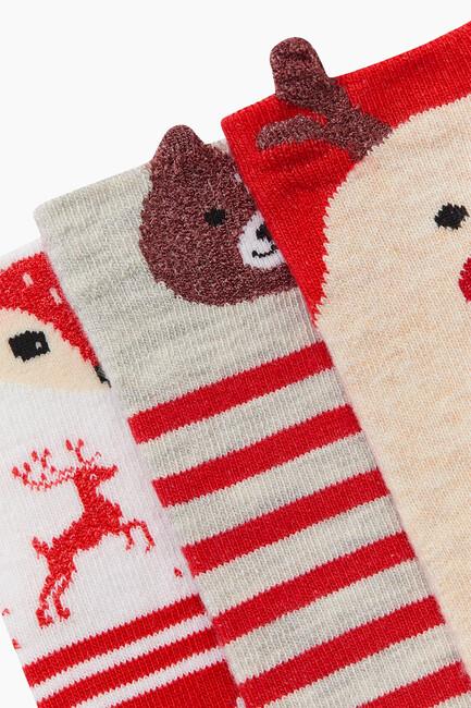 Bross 3'lü 3D Hayvan Desenli Çocuk Çorabı - Thumbnail
