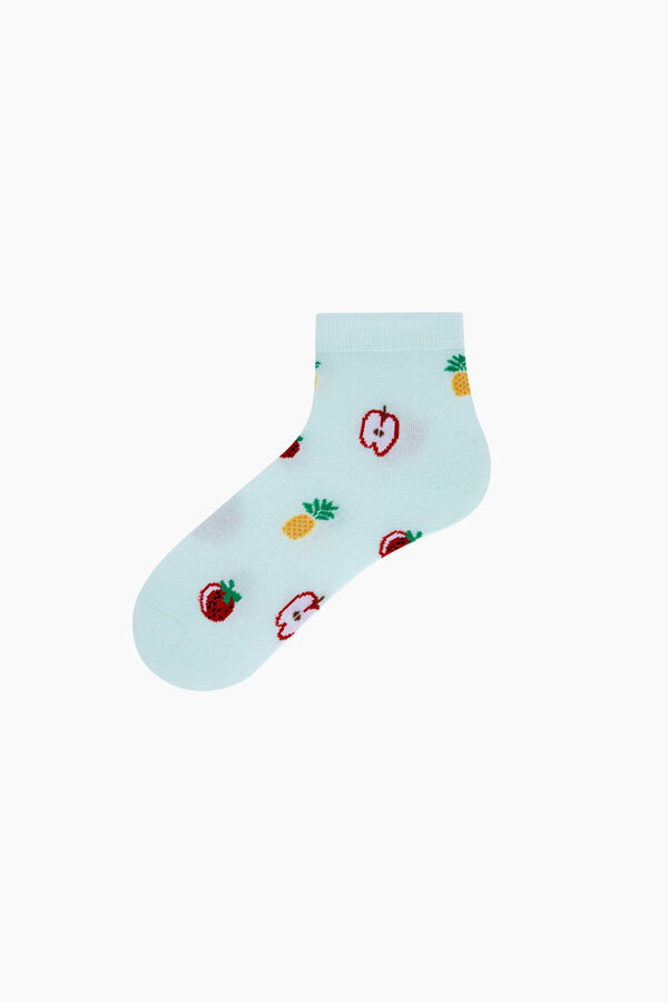 Bross 3'lü Karışık Meyve Desenli Patik Kadın Çorabı