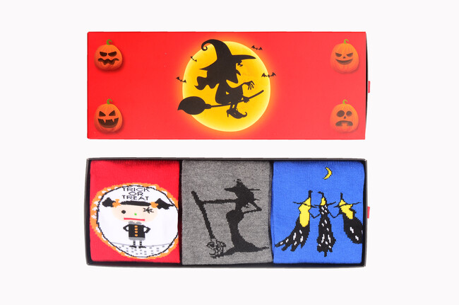 Bross - 3-Box Halloween gemusterte Damen Socken Sieben