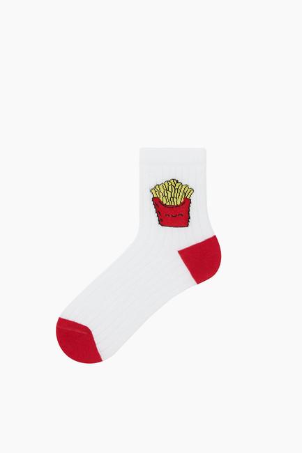 Bross 3'lü Paket Fastfood Desenli Çocuk Çorabı - Thumbnail