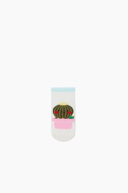 3'lü Paket Kaktüs Desenli Patik Çocuk Çorabı - Thumbnail