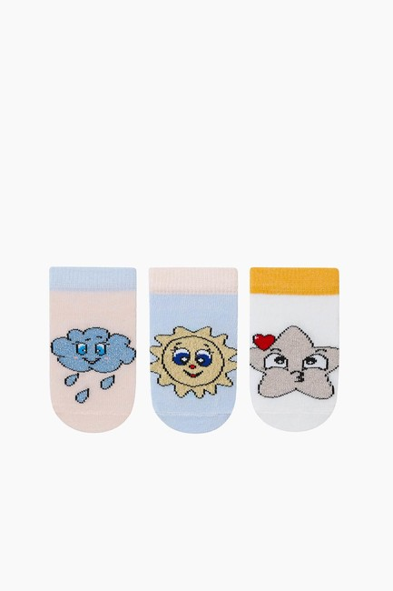 Bross - 3'lü Paket Simli Patik Bebek Çorabı