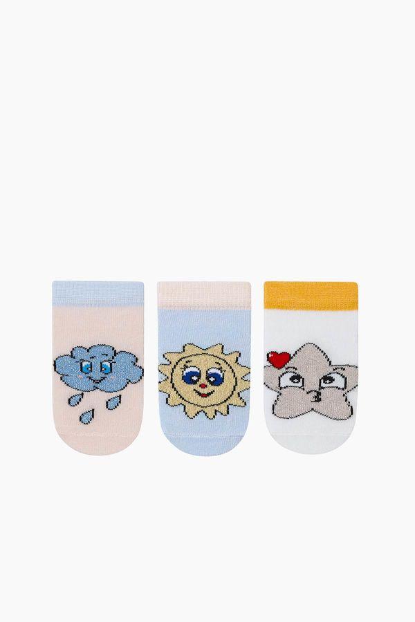 Bross 3'lü Paket Simli Patik Bebek Çorabı