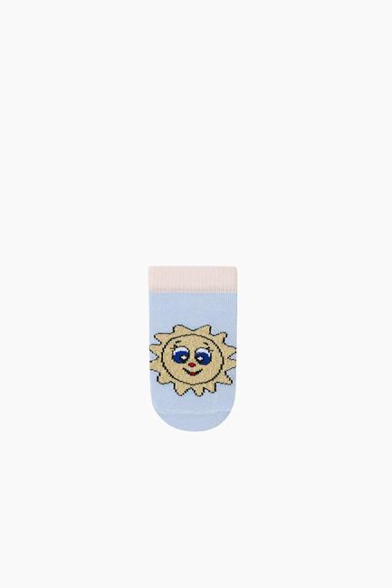 Bross 3'lü Paket Simli Patik Bebek Çorabı - Thumbnail