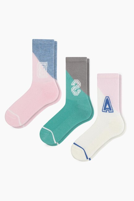 Bross - Bross 3'lü Taban Altı Havlu Spor Çocuk Çorabı
