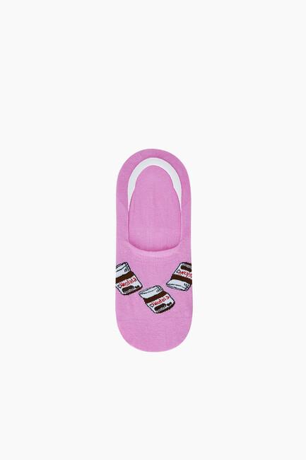 3'lü Tatlı Desenli Kadın Babet Çorabı - Thumbnail