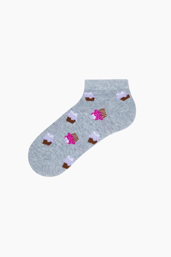 3'lü Tatlı Desenli Patik Kadın Çorabı