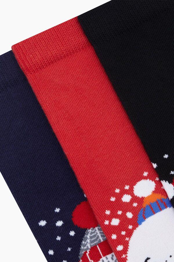 Bross 3'lü Yılbaşı Desenli Çocuk Çorabı