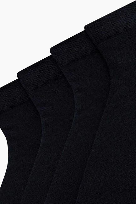 4-Pack Bamboo Ladies Shaftless Socks - Thumbnail