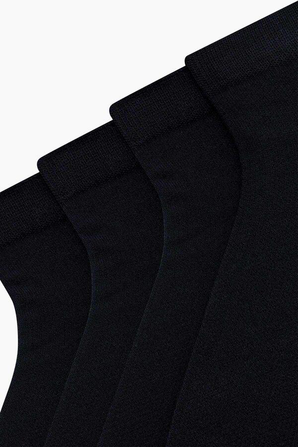 4-Pack Bamboo Ladies Shaftless Socks