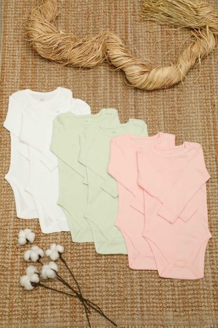 Bross - 6-box Organic Cotton Baby Long Sleeve Body