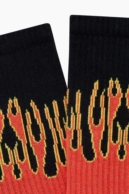 Alev Desenli Erkek Çorabı - Thumbnail