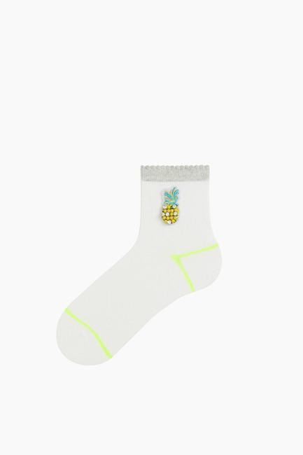 Bross - Ananas Aksesuarlı Kadın Çorabı